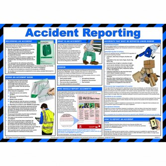 Safety First Aid Accident Reporting Poster, Laminated