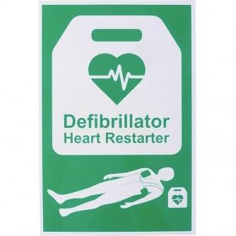 Safety First Aid AED Defibrillator Safety Sign 20x30cm Rigid Plastic