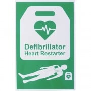 AED Defibrillator Safety Sign 20x30cm Rigid Plastic