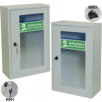 Safety First Aid AED Defibrillator Wall Cabinets with or without Key Lock 30x14x46cm