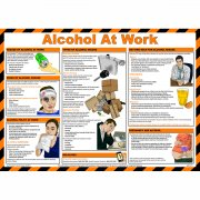 Alcohol at Work Poster, Laminated