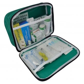 Safety First Aid Basic Foreign Travel Kit in Nylon Pouch