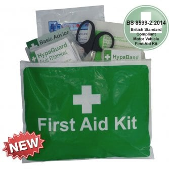Safety First Aid Car and Taxi First Aid Kit in Vinyl Zipper Wallet