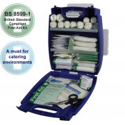 Catering First Aid Kit British Standard BS8599 Evolution Plus Blue Case - Medium