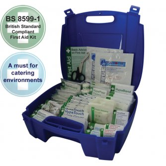 Safety First Aid Catering First Aid Kit British Standard Evolution Blue Case 1 to 50 People