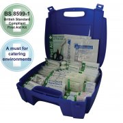 Catering First Aid Kit British Standard Evolution Blue Case - Medium
