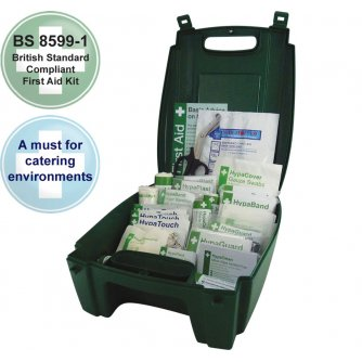 Safety First Aid Catering First Aid Kit British Standard Green Evolution Case 1 to 20 People