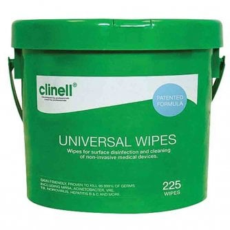 Safety First Aid Clinell Universal Discinfectant Wipes - Bucket of 225