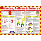 Diabetes, Asthma and Seizures Poster, Laminated