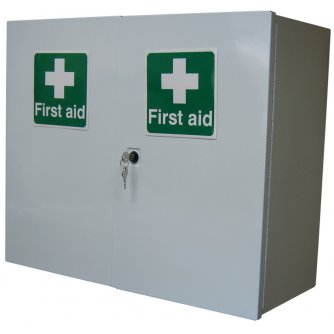 Safety First Aid Double Door, Double Depth Cabinet, Empty