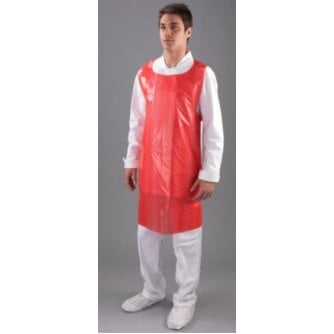 Safety First Aid Economy Red Disposable Aprons - Flat Packed 200