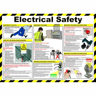 Safety First Aid Electrical Safety Poster, Laminated