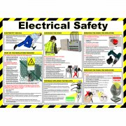 Electrical Safety Poster, Laminated