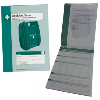 Safety First Aid Essential Accident Book