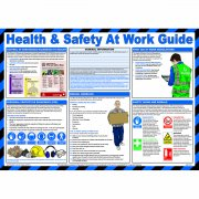 Health and Safety at Work Guide Poster, Laminated