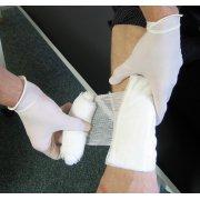 HypaTouch Powder-Free Latex Gloves, Medium (Box of 100)