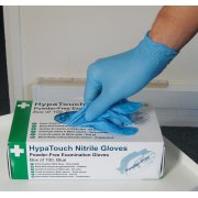 HypaTouch Powder-Free Nitrile Gloves, Small (Box of 100)