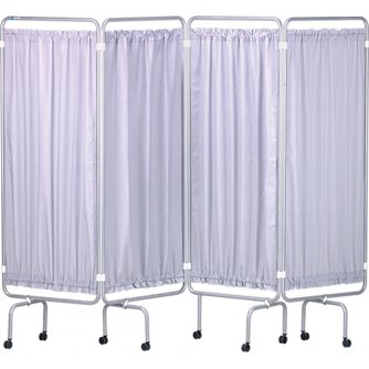 Safety First Aid Medical Screen & Curtains White Epoxy Frame