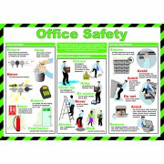 Office Safety Poster, Laminated