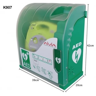 Safety First Aid Outdoor Heated AED Defibrillator Cabinets with Alarm or with Comination Lock