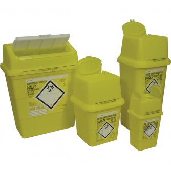 Safety First Aid Sharps Disposal Box, 4 litre