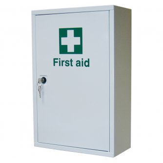 Safety First Aid Single Door, Single Depth Cabinet, Empty