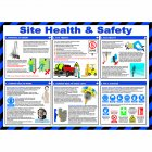 Site Health and Safety Poster, Laminated