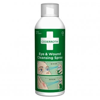 Safety First Aid Sterile Eye & Wound Wash Cleansing Spray, 150ml
