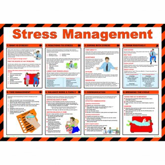 Safety First Aid Stress Management, Laminated Poster