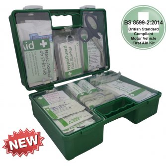 Safety First Aid Vehicle First Aid Kit British Standard BS 8599-2 in Heavy Duty ABS Box - Large