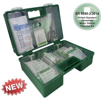 Safety First Aid Vehicle First Aid Kit British Standard BS 8599-2 in Heavy Duty Medium ABS Case