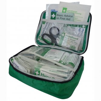 Safety First Aid Vehicle First Aid Kit British Standard BS 8599-2 in Large Pouch