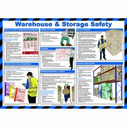 Warehouse and Storage Safety Poster, Laminated
