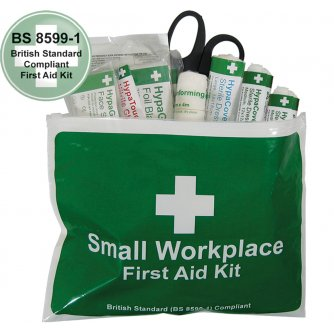 Safety First Aid Workplace British Standard First Aid Kit in Vinyl Wallet, Small
