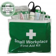 Workplace British Standard First Aid Kit in Vinyl Wallet, Small