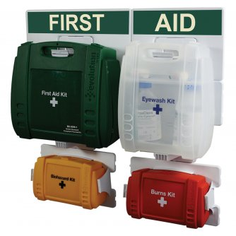 Safety First Aid Workplace Complete First Aid Point British Standard Evolution Case - Med.