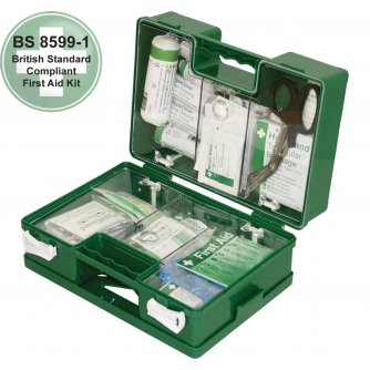 Safety First Aid Workplace Deluxe First Aid Kit British Standard Compliant 1 to 50 People
