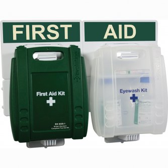 Safety First Aid Workplace Eyewash & First Aid Point British Standard Evolution Case 1 to 50 People