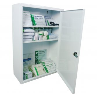 Safety First Aid Workplace First Aid Cabinets British Standard Compliant Kit - Medium