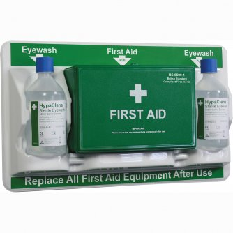 Safety First Aid Workplace First Aid & Eye Care Station British Standard Compliant