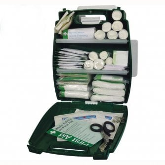 Safety First Aid Workplace First Aid Kit British Standard BS8599 in Evolution Plus Green Case  - Small