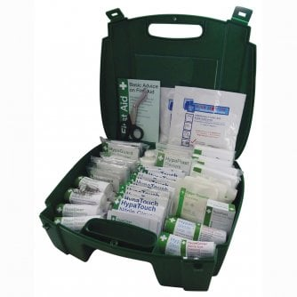 Safety First Aid Workplace First Aid Kit British Standard Compliant Green Evolution Case 1 to 50 people