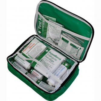 Safety First Aid Workplace First Aid Kit  British Standard Compliant in Nylon Case 1 to 10 People