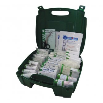 Safety First Aid Workplace First Aid Kit British Standard Evolution Green Case - Medium