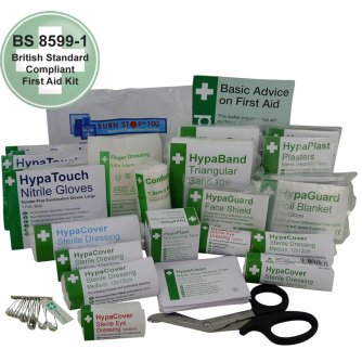 Safety First Aid Workplace First Aid Kit Refill BS8599, Small 1 to 10 People
