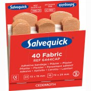 Salvequick Sterile Fabric Plaster, 6x Refills (240 Plasters)