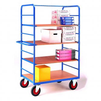 British Standard Shelf Truck - 4 Plywood Shelves