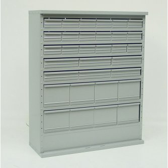 British System D 32 Drawer Combination Cabinets 460mm W with Doors