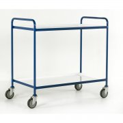 Tray Trolleys Small 2 or 3 Tray with White Epoxy Trays