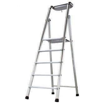 Tubesca Probat EN131 Professional Oversized Step Ladders 4 to 12 Treads 5yr Warranty